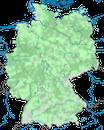 Karte zur Verbreitung des Eisvogels in Deutschland