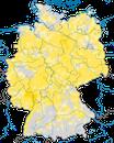 Karte zur Verbreitung der Turteltaube (Streptopelia turtur) in Deutschland