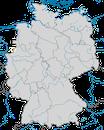 Karte zur Verbreitung des Kubaflamingos (Phoenicopterus ruber) in Deutschland.