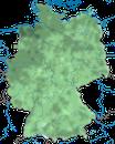 Karte zur Verbreitung der Stockente in Deutschland