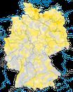 Karte zur Verbreitung des Rebhuhns (Perdix perdix) in Deutschland