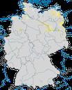 Karte zur Verbreitung der Trauerseeschwalbe (Chlidonias niger) in Deutschland