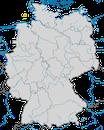 Karte zur Verbreitung des Eissturmvogels (Fulmarus glacialis) in Deutschland