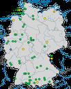 Karte zu den Beobachtungen der Rötelschwalbe in Deutschland von 2000-2016