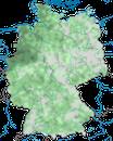 Karte zur Verbreitung der Dohle in Deutschland