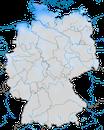 Karte zur Verbreitung der Ringelgans (Branta bernicla) in Deutschland