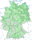 Karte zur Verbreitung des Höckerschwans (Cygnus olor) in Deutschland
