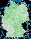 Karte zur Verbreitung der Reiherente (Aythya fuligula) in Deutschland