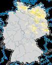 Karte zur Verbreitung der Rohrdommel (Botaurus stellaris) in Deutschland