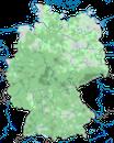 Karte zur Verbreitung der Gebirgsstelze in Deutschland