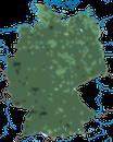 Karte zur Verbreitung der Blaumeise in Deutschland