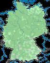 Karte zur Verbreitung der Hohltaube (Columba oenas) in Deutschland