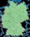 Karte zur Verbreitung des Turmfalkens in Deutschland