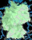 Karte zur Verbreitung der Kanadagans (Branta canadensis) in Deutschland