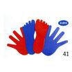 CONJUNTOS  de 8 manos y 8 pies en plástico