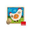 Puzzle de una gallina en su ambiente