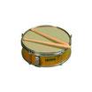 Tambor Caja 30x12. Con baquetas