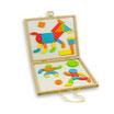 Caja de formas magnéticas de colores para crear figuras
