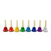 Campanas de 8 notas colores DO/DO de 7,5 x 13,5 cm.