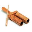Güiro de madera doble con rascador