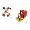 Cubo Vehículos Flexi de 14 cm. de varios tipos, 18 Piezas: