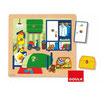 Puzzle de madera de una habitación infantil