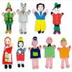 """Marionetas de mano """"CUENTOS A"""""""