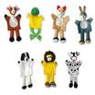 Marionetas de mano de Animales (Colección de 7 uds.)