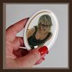 Grabbild / farbig / oval ! 80 x 100 mm / GOLD-Rand GOLD Bestellnummer_1_OG_80100
