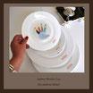 Teller mit einem Foto - Bild farbig - 15 cm