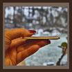 Porzellanbild /  GOLD-Rahmen / farbig / Rechteck