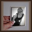 Grabbild / schwarz - weiß - sw / rechteck  70 x 90 mm/ GOLD-Rand GOLD Bestellnummer_2_REG_7090