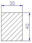 Flachleiste Fichte 4-s gehobelt 30 x 40 x 2000 mm