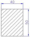 Flachleiste Fichte 4-s gehobelt 40 x 50 x 2000 mm