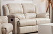 Loveseat Reclinable Doble Taupe Piel