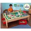 Set de Juego para niño Mesa de Tren de madera KidKraft con 3 charolas y 120 piezas Montaña Cascada