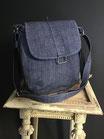 Sac bandoulière jean bleu REF S102