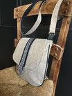 Sac bandoulière coton beige        REF S103