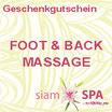 Geschenkgutschein - Foot & Back Massage