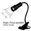 IDRIS :: Lampe à pince focus ajustable / à clipser