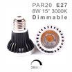 PAR20 :: Ampoule E27 Spot LED 8W 15° Dimmable