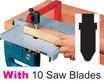 A02-1 Jigsaw Table + 10 Saw Blades