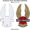 80年代 デッドストック HARLEY-DAVIDSON バー&シールド 裏貼り ステッカー 小