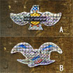 1980-90年代 デッドストック HARLEY-DAVIDSON バー&シールド&ウイング&No1&イーグル ホログラム ステッカー 小