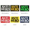 "ANTI HERO ""BLOCK HERO"" ロゴ ステッカー 6カラー"