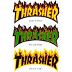 THRASHER MAGAZINE フレーム ロゴ ステッカー 中