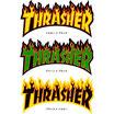 THRASHER MAGAZINE フレーム ロゴ ステッカー 大