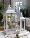 set 2 lanterne  white - (grande cm.24x24xh.60)