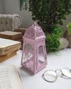2 lanterne  light pink - cm.9x9xh.20