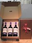 """Geschenkdoos (karton """"leder"""") 3 flessen"""